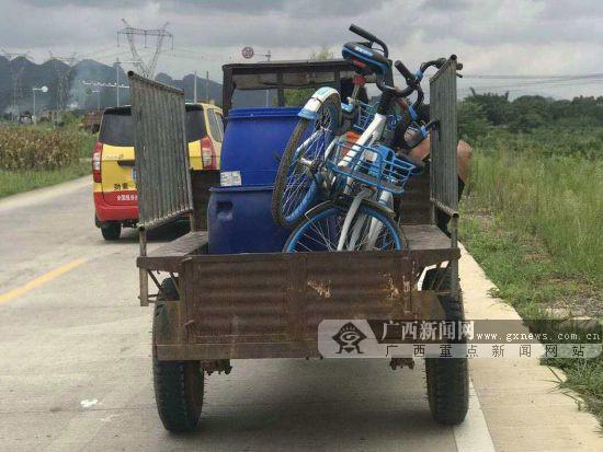 贺州两男子盗窃共享单车欲独享被刑拘(图)